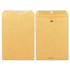 Quality Park Clasp Envelope 9 X 12 28lb Brown Kraft 100box 37890