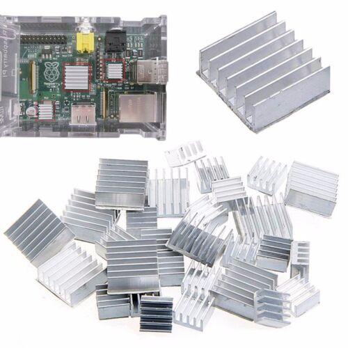30tlg Alu Kühlkörper Heizkörper Heatsink Fans Chip für IC Leistungstransistoren