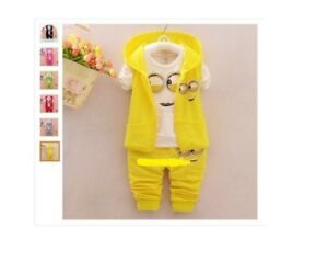 fddd8f554 Newest 2017 Baby Girls Boys Minion Suits Infant/Newborn Clothes Sets ...