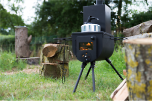 Portable Woodburner Woodsman Stove Bell Tent With Mini Oven Axe