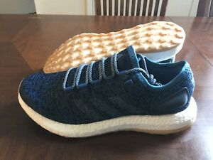 90208d95a3f69 Image is loading Adidas-PureBoost-Running-Shoes-Blue-Gum-Bottom-Size-