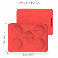 The Burger Stack - 5 In 1 Silicone Burger Press + Burger Freezer Container For