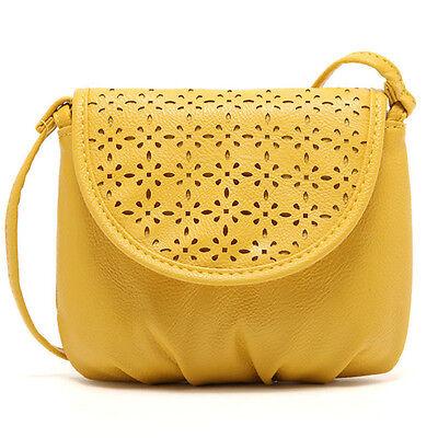 Women Leather Satchel Shoulder Bag Cross Body Messenger Tote Mini Handbag Yellow