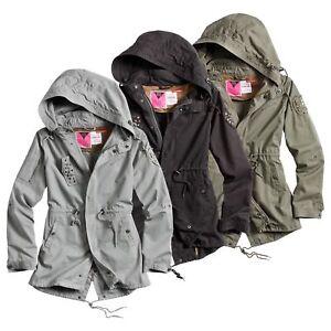 Details zu Surplus Ladies M65 Parka Vintage Jacke Frauen Army Damen Armyjacke Kapuze WOW