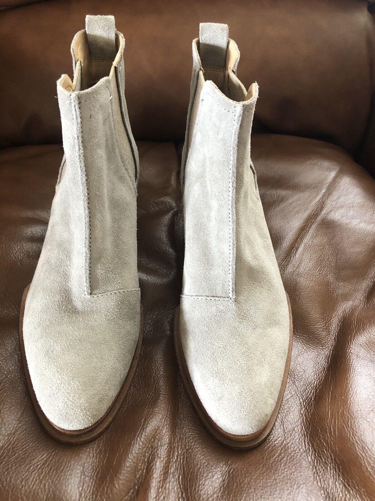 Neuf avec étiquette rag and bone walker II Chelsea Bottine Chaussures à Enfiler LT gris seuede SZ 6  485