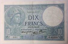 France billet 10 francs Minerve 5-12-1940