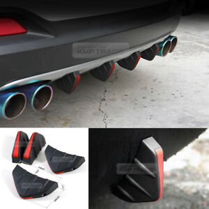 Bumper Diffuser Molding Point Garnish Air Spoiler Cover Black Red for JEEP Car