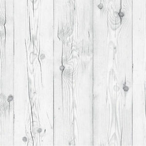 Contact Paper White Wash Wood Effect Wallpaper Self