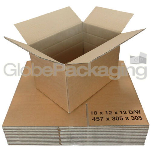 "60 Large DOUBLE WALL Boxes Cartons 18x12x12/"" Removals"