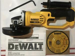"New Dewalt DCG412 20V Cordless Battery Angle Grinder 4 1//2/"" 20 Volt MAX Cut-Off"