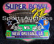SUPER BOWL 12 Final Score LAPEL PIN & CARD Willabee Ward COWBOYS  BRONCOS SB XII