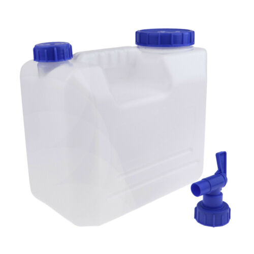15L Outdoor Camping Water Carrier Container with Water-tap /& Leak Proof Lid