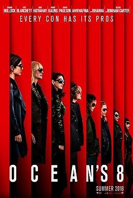 """OCEAN'S 8 2018 Advance Teaser DS 2 Sided 27x40"""" US Movie Poster Sandra Bullock"""