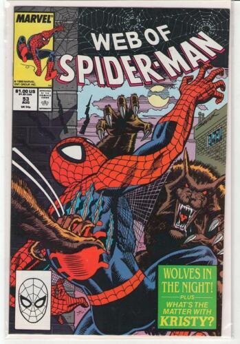 Web of Spiderman #53 werewolves 9.4