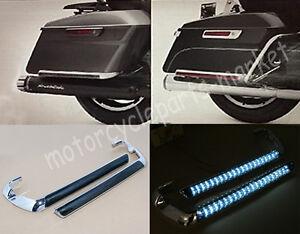 Chrome Saddlebag Led Side Marker Light Smoke Cover For