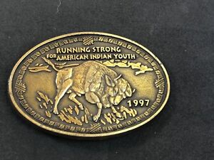 1997-RUNNING-STRONG-FOR-INDIAN-YOUth-Belt-Buckle