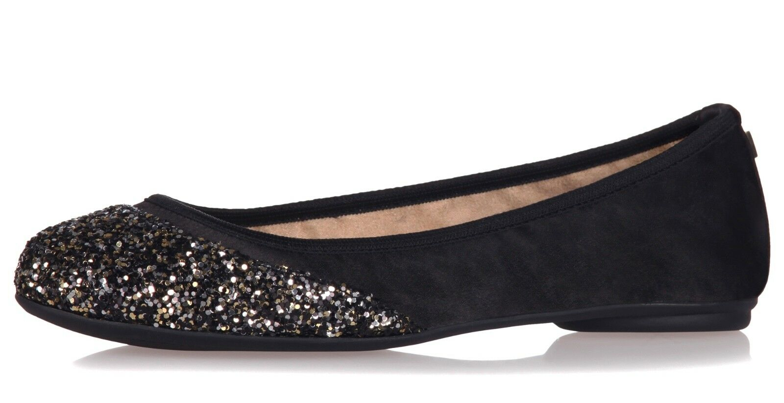 Butterfly Twists NEW Ashley black gold disco glitter ballet flat shoes sizes 3-8