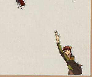 Fushigi Yuugi  Production Cel #A12 anime 1996  Miaka boldly tosses up a scroll