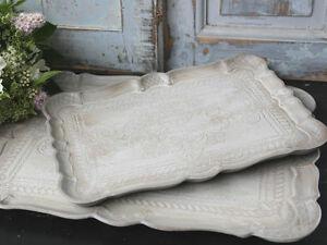 CHIC-ANTIQUE-1-Florentiner-Tablett-Tray-Sand-antikisiert-Shabby-Brocante-40-cm