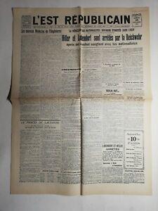 N495-La-Une-Du-Journal-L-039-est-republicain-10-novembre-1923-Hitler-arrete