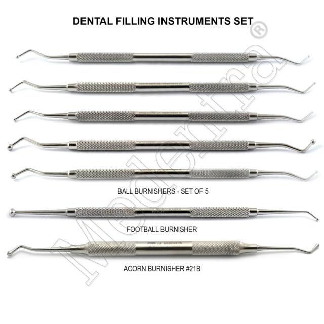 X7 Dental Restoration Kit Acorn Anatomy Burnisher Ball Smooth ...