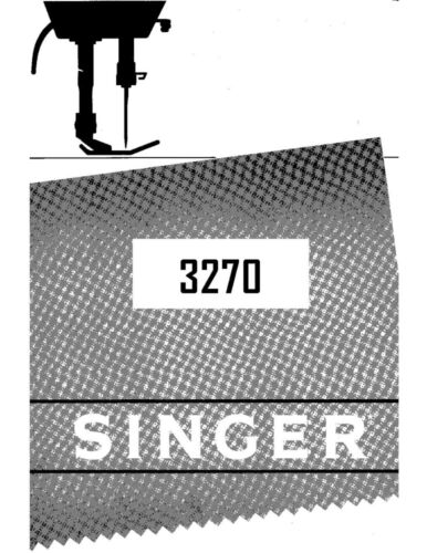 Singer 32703343 Sewing MachineEmbroiderySerger Owners Manual