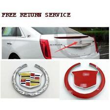 3D Metal Cadillac Hood Emblem Badge Sticker Decal for ATS SRX XTS CTS XT5 XLR
