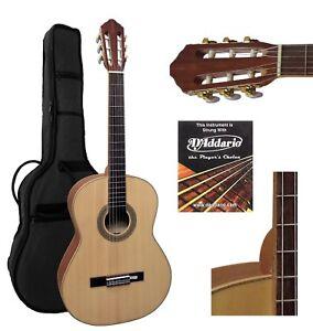 Gigbag 10 Rabatte Verkauf Natur Konzertgitarre 4/4 Hochglanz M4/4g Incl Massiv Holz