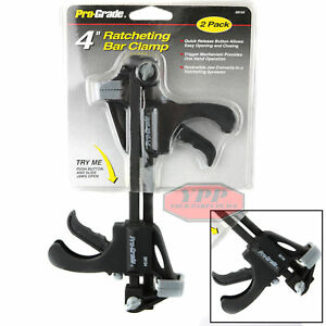 "2 Pack of 6/"" Inch Ratcheting Release Bar Clamps Vise Wood Spreader One Handed"