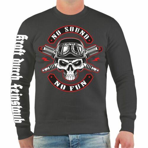 Sweatshirt Motorrad No Sound No Fun Motorcycles biker oldschool motocross club
