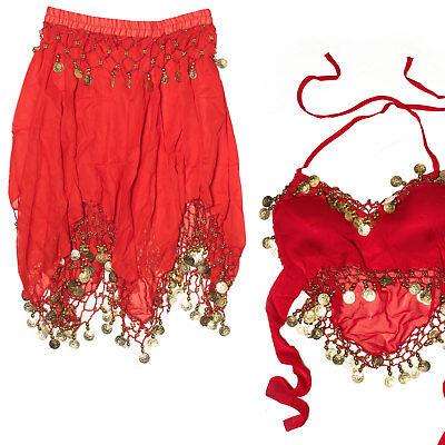 Avere Una Mente Inquisitrice Danza Del Ventre Costume Gonna E Top Monete Belly Dance Carnevale Rosso Sesso Münztuch-mostra Il Titolo Originale Facile Da Lubrificare