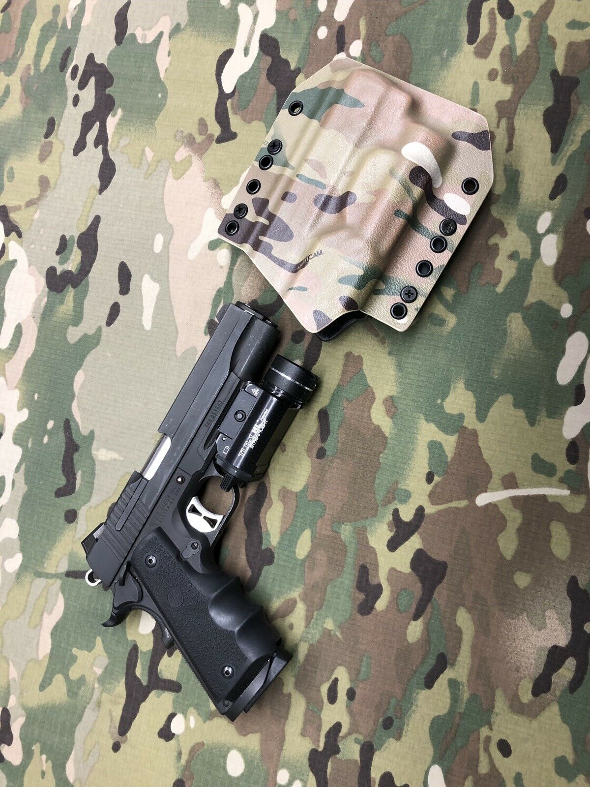 Multicam Infused Kydex SIG Holster for SIG Kydex Square Slide 5