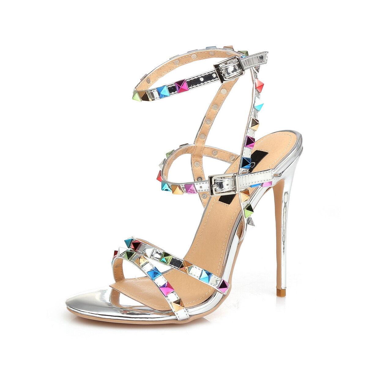 Giaro Sandali in taglie forti grandi scarpe da donna argentoo XXL
