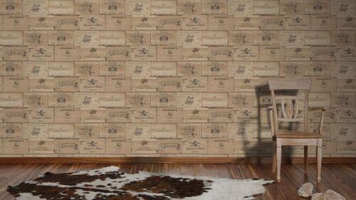 As Creation Papier Peint Authentique Murs 30477-1 Boîtes en Bois non-Tissé