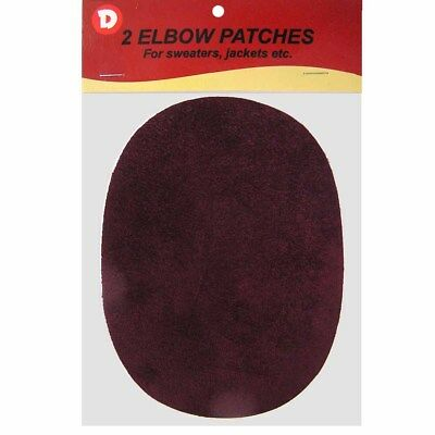 Two Faux-Suede Iron-On Elbow Patches 4.5  x 5.5 in Black