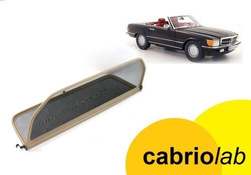 Beige Klappbar WINDSCHOTT MERCEDES SL R107 Cabrio 1971-1989 Premium Ausführung
