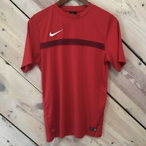 Nike-Size-Medium-Dri-Fit-Athletic-Authentic-Football-Red-T-Shirt-Men-s-Top-EUC