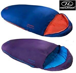 Highlander-Kids-Childrens-Boys-Girls-Sleep-Capsule-Mummy-Camping-Sleeping-Bag