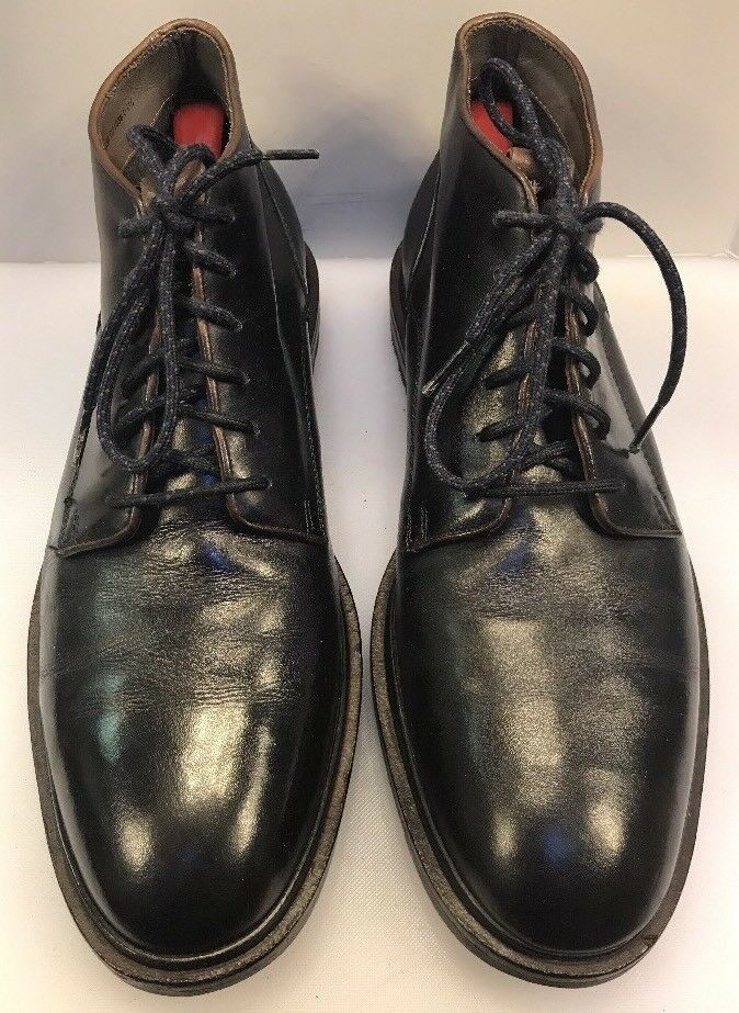 Cole Haan Men 9.5 M   D Cranston Water Resistant Chukka Stiefel Navy Blau Leather