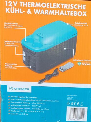 Kremer 12V Thermoelektrische Kühl /& Warmhaltebox