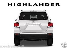 Black Rear Letters Inserts For 2008-2013 Toyota Highlander New Free Shipping