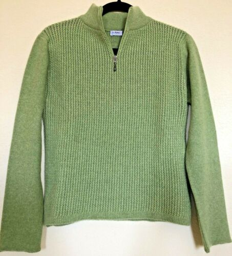N PEAL SCOTLAND CASHMERE HALF ZIPPED SWEATER PULLO