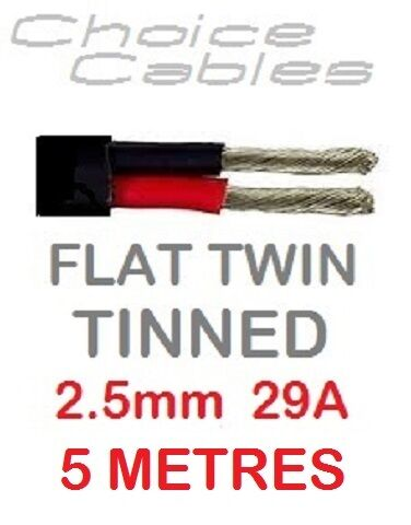 Câble Auto Marine conserves thinwall plate double 2,5 mm 29 Amp 12V 24V bateau 5 mètres