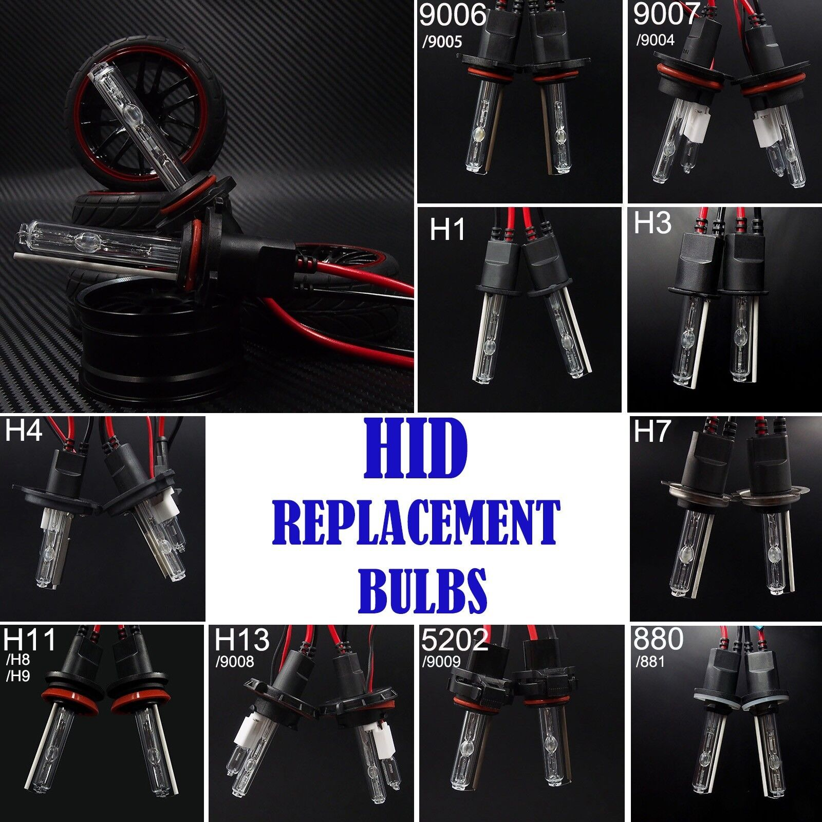 New Aliens Replacement Hid Xenon Bulbs 9003 9004 9006 9005