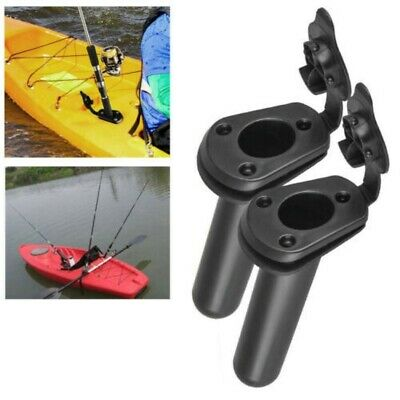 Kayak Boat Rod Holder with Plastic Flush Mount Fishing Boat Rod Holder and Cap Cover for Fishing Kayaking