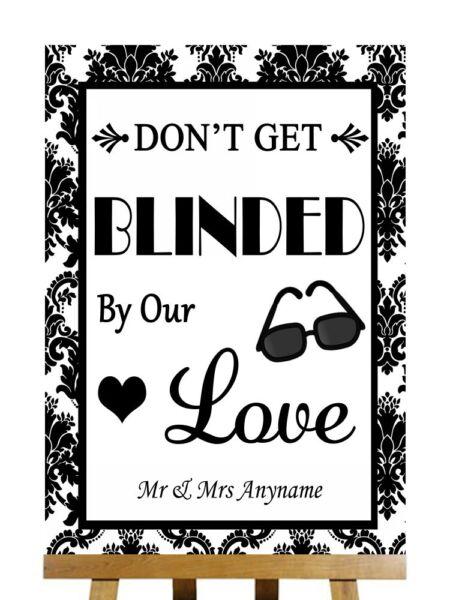 2019 Ultimo Disegno Black And White Occhiali Da Sole Favor Accecati Da Love Personalizzato Wedding Segno Moda Attraente