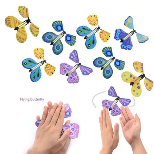 UK_ CN_ Flying Butterfly Trick Magic Prop Transformation Toy Surprise Prank Clas