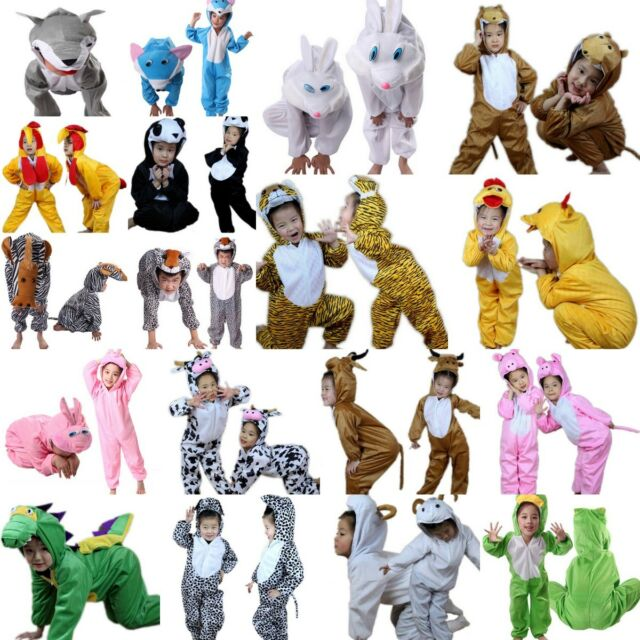 Unisex Kids Children Kigurumi Pajamas Animal Boy Girl Cosplay Costume Sleepwear