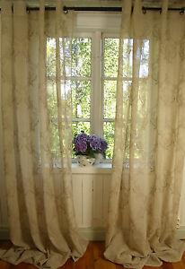 Das Bild Wird Geladen  Vorhang MILA Sand Gardine 2x 135x240 LillaBelle Shabby