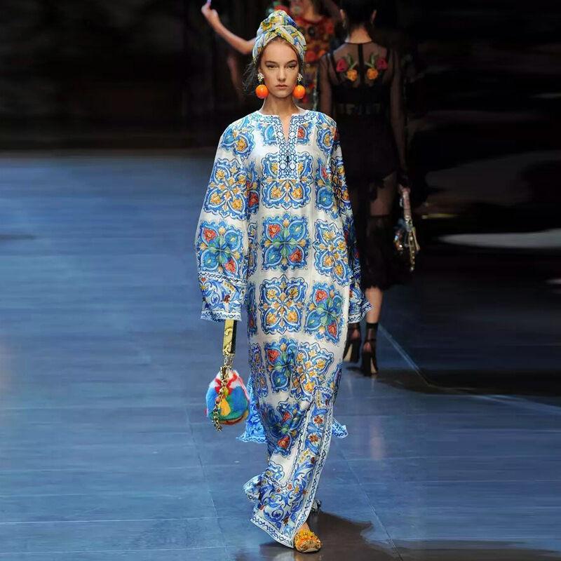 Damen Runway Designer Inspirot Sommerkleid Übergröße